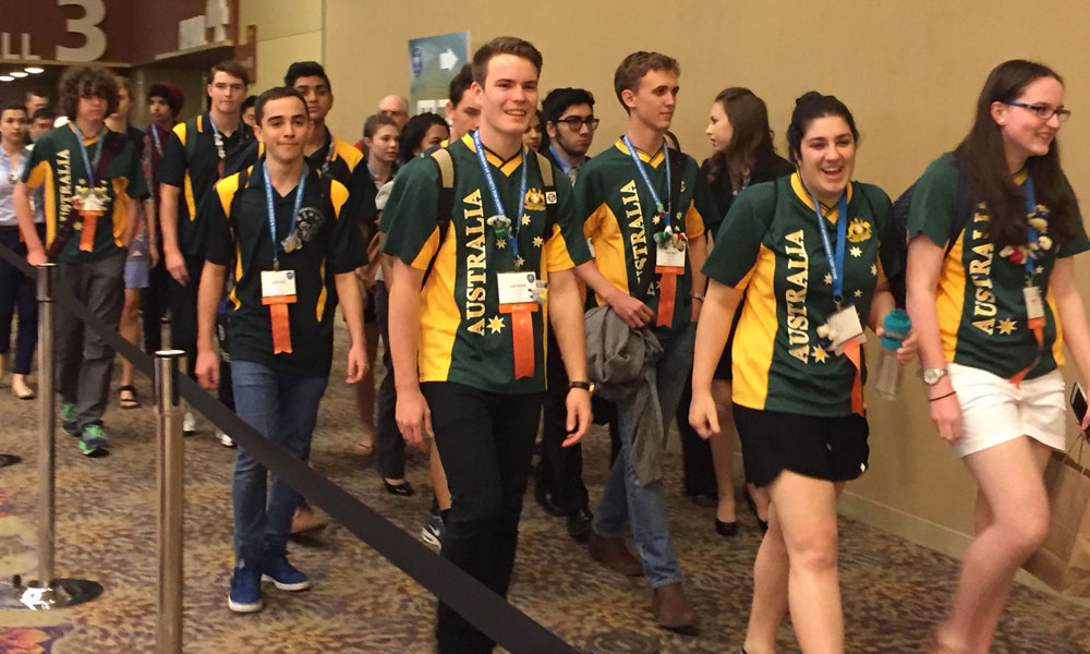 Australia students at the Intel International Science and Engineering Fair.