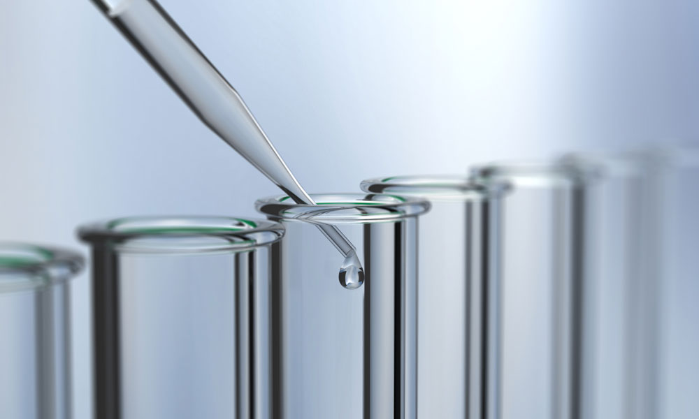 research test tubes stock image