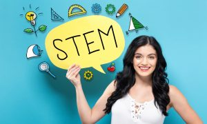 woman in stem stock image