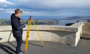 Dr. Robert Odolinski, University of Otago, configuring a smartphone to collect multi-GNSS data