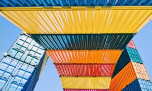 freight data study colourful freight container perspective