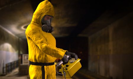 nuclear safety testing stock image