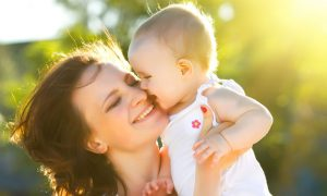 mother and baby stock image