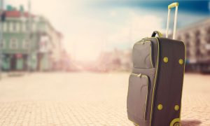 travel suitcase stock image