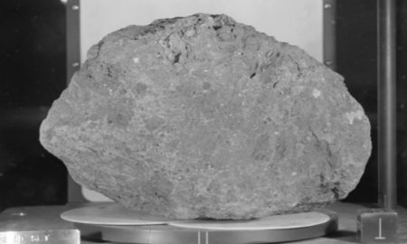 A lunar rock sample collected on the Apollo 14 mission. Credit: NASA