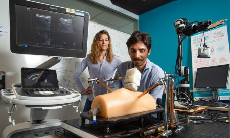 Dr Davide Fontanarosa is developing medical robotics which uses ultrasound to 'see'.