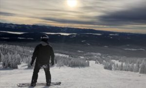 Dr Will Harrison used his expertise in visual perception to predict how the brain processes groomed snow. Photo credit: Dr Will Harrison