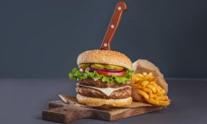 burger fries fast food stock image