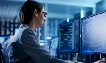 woman it engineer stock image