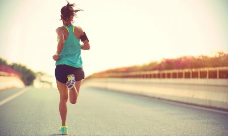 woman going jogging stock image